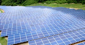 太陽光発電所の俯瞰画像